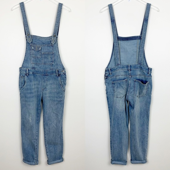 Free People Denim - Free People | Washed Denim Overalls Distressed 27